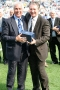 43 Bobby Gould presented with memento by Paul Fletcher (CCFC)