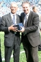 47 John Mitten presented with memento by Paul Fletcher (CCFC)