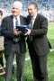 48 Norman Pilgrim presented with memento by Paul Fletcher (CCFC)