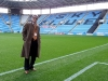 Dinko pitchside in Ricoh Arena