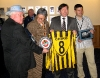 Kevin Heffernan (CCFPA) Ray Ranson (CCFC) Dinko & Nicky with gifts