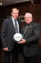 GD10-97 Steve Staunton shares the ball with a Committee Member