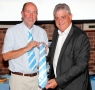 gd2012- Kevin Drinkell presented with CCFPA tie by Jim Brown