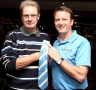 gd2012- Kevin Gallacher presented with CCFPA tie by Jim Cox