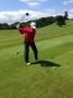 Steve Sykes (Proco) tees off 1st hole