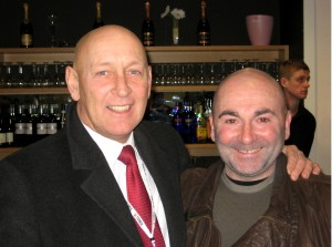 Greg & fellow FA Cup hero Micky Gynn at a previous CCFPA event.