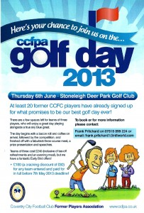 Golf Day 2013 Poster red