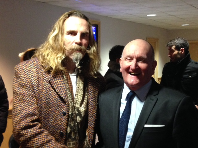 Killer at the Ricoh in 2014 with CCFPA's Frank Pritchard