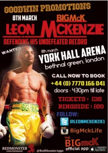 Leon McKenzie Boxing Poster
