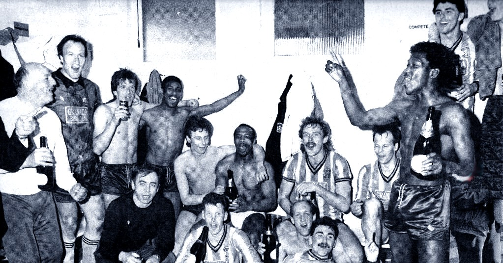 Boys of 87 SF Dressing Room Celebration