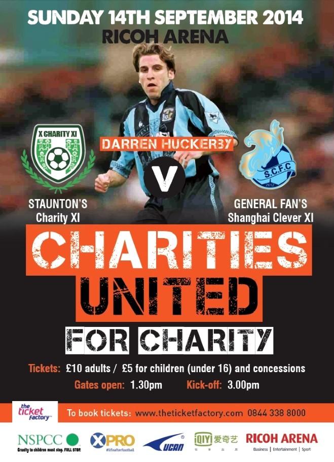 Charities Utd game at Ricoh 14-09-14