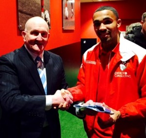 Frank Pritchard welcomes Callum to CCFPA last year