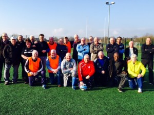 A Happy Team Photo of the 'Walking Football' Participants Yesterday