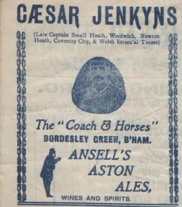 Jenkyns,, CA (Caesar Augustus) Ad from prog 1920-1