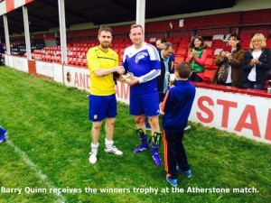 Barry Quinn gets Atherstone trophy