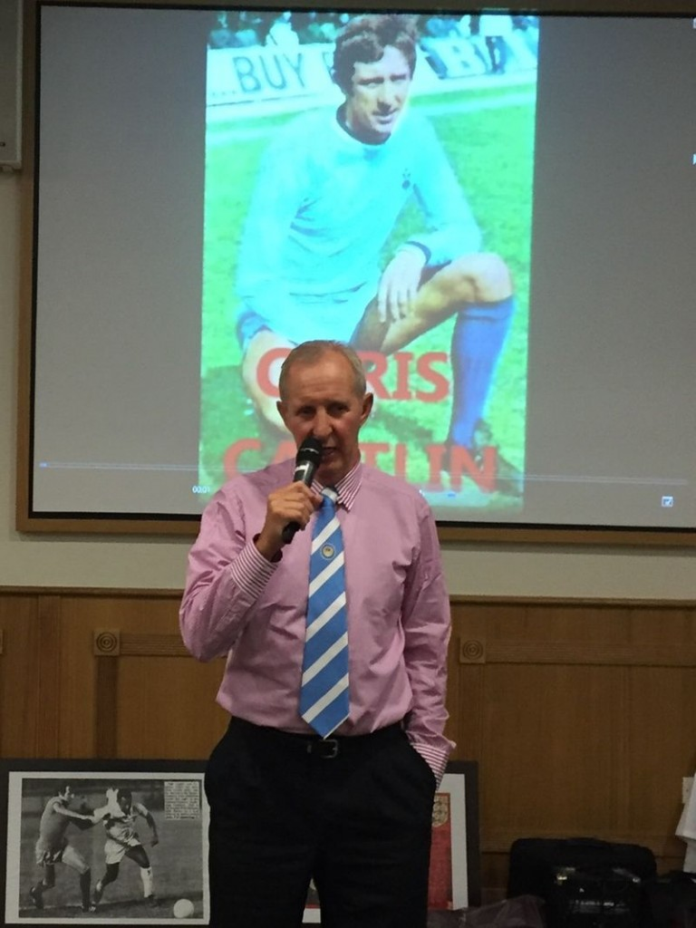 Diamond geezer! Chris Then & Now Speaks at the Lunch